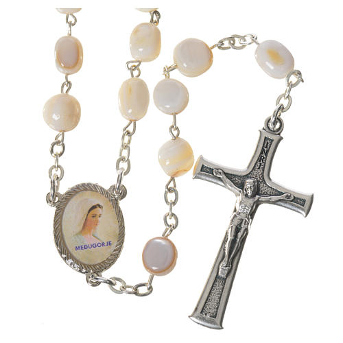 Medjugorje rosary in mother of pearl 1