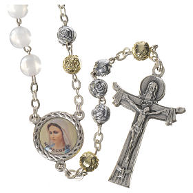 Pearly Medjugorje rosary with Holy Spirit s1