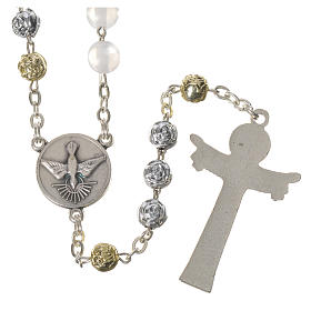 Pearly Medjugorje rosary with Holy Spirit s2