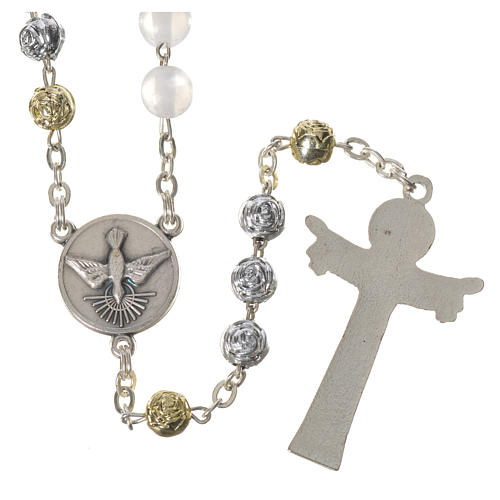 Pearly Medjugorje rosary with Holy Spirit 2