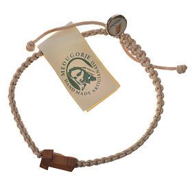 Medjugorje bracelet, coloured cord and olive cross s6