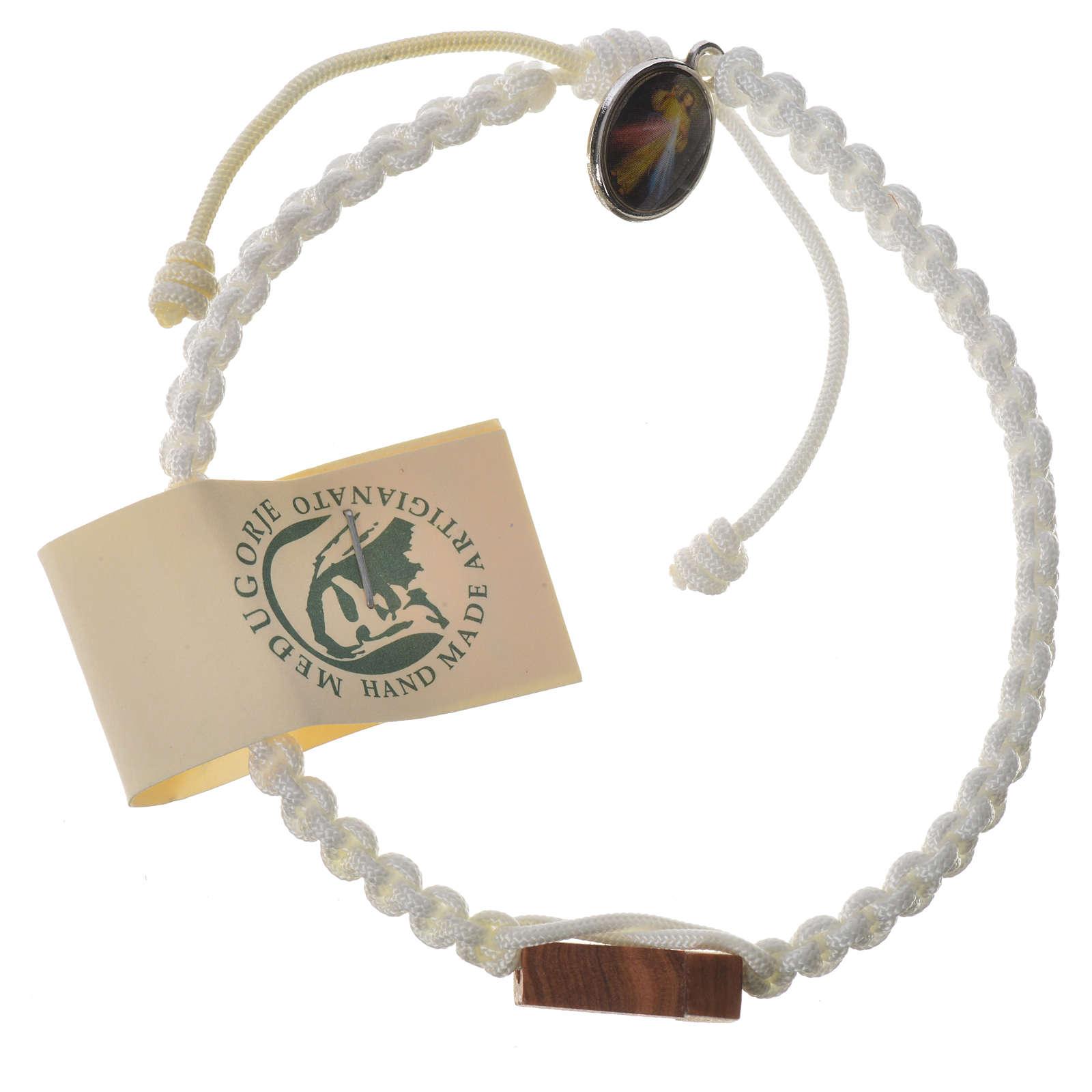 Bracelet corde Medjugorje croix olivier différents coloris 4