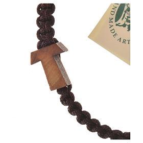 Bransoleta Medjugorje sznurek krzyż drewno oliwne różne kolory s2