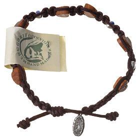 Bracelets, dizainiers: Bracelet olivier coeur Medjugorje corde marron