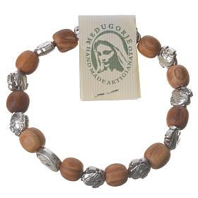 Bracelets, dizainiers: Bracelet Medjugorje élastique olivier petites roses