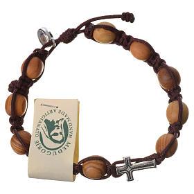 Bracelet grains olivier corde Medjugorje s2