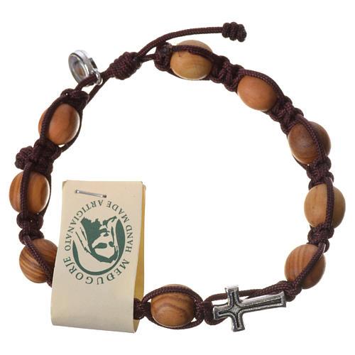Bracelet grains olivier corde Medjugorje 2