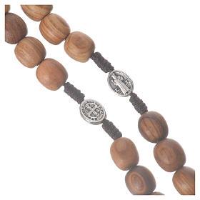 Rosario Medjugorje legno olivo croce metallo s11