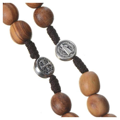 Rosario Medjugorje legno olivo croce metallo 7