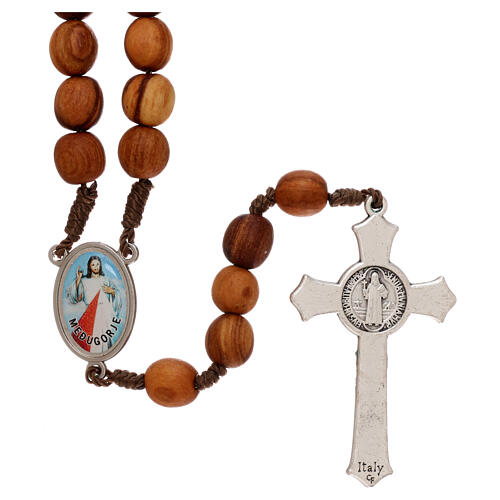 Rosary with grains in Medjugorje olive wood 2