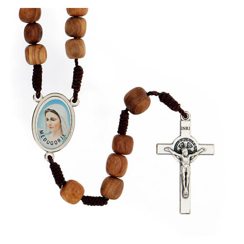 Rosary with grains in Medjugorje olive wood 1