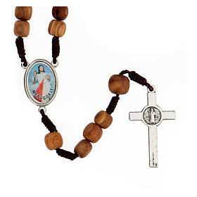 Rosary with grains in Medjugorje olive wood s2