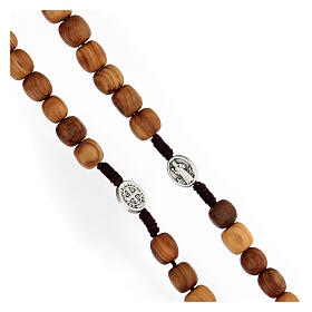 Rosary with grains in Medjugorje olive wood s3