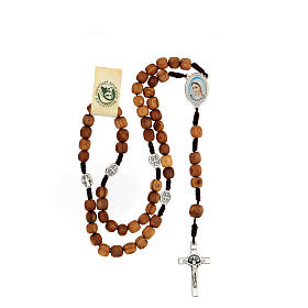 Rosary with grains in Medjugorje olive wood s4
