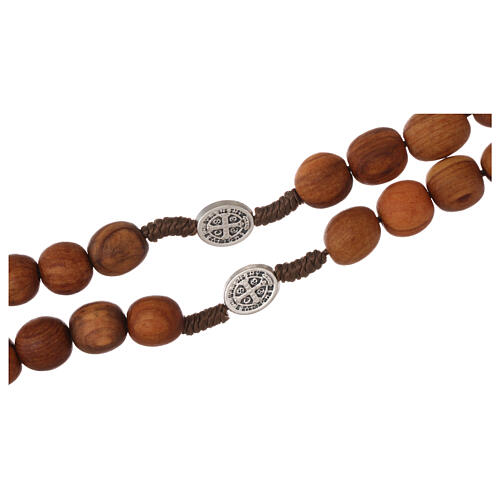 Rosary with grains in Medjugorje olive wood 3