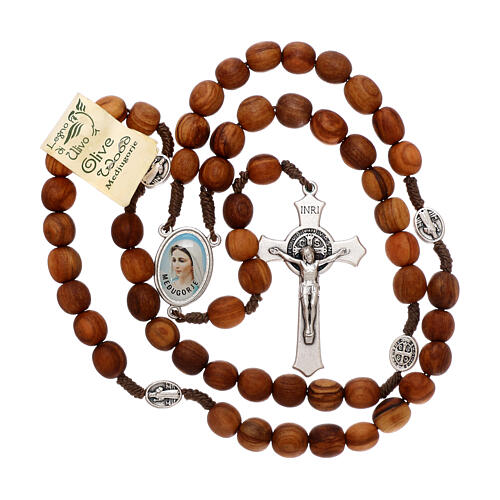 Rosary with grains in Medjugorje olive wood 4