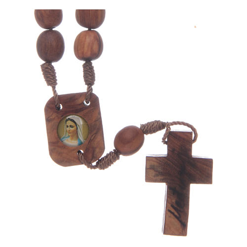 Medjugorje chaplet in olive wood 1