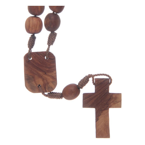 Medjugorje chaplet in olive wood 2