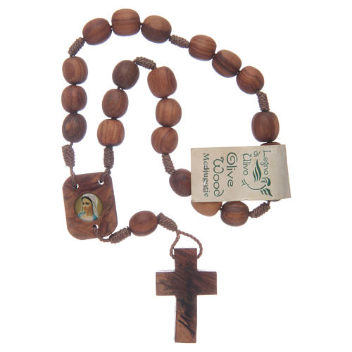 Medjugorje chaplet in olive wood 3