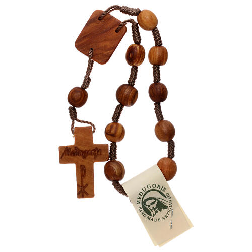 Medjugorje one-decade rosary in olive wood 2