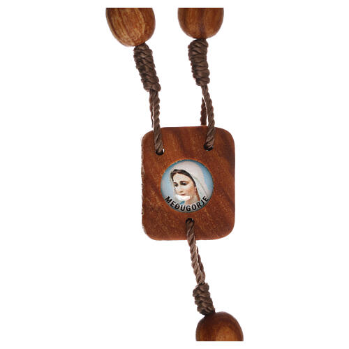 Medjugorje one-decade rosary in olive wood 3
