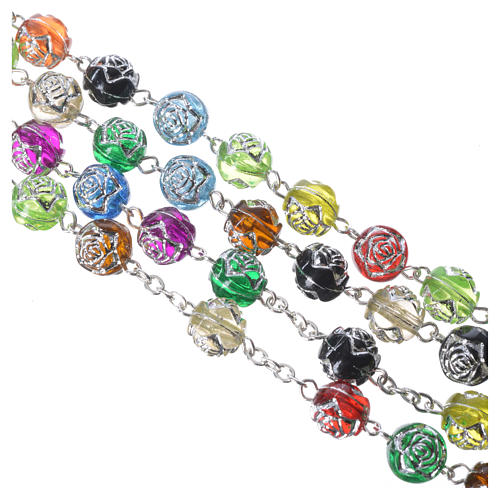 Rosary in coloured PVC made in Medjugorje 4