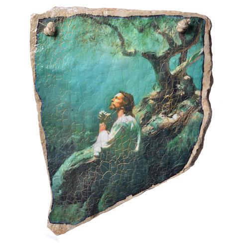 Stone prayer painting in Medjugorje stone 1