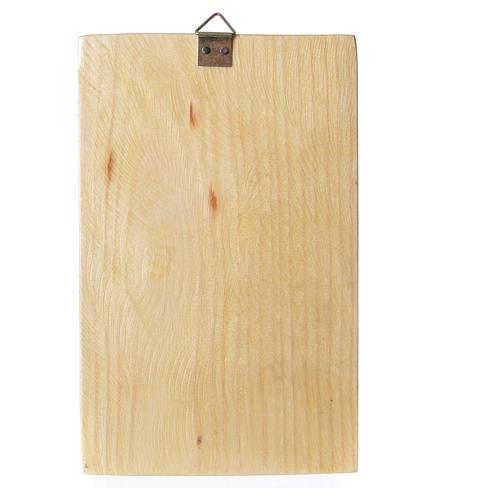 Quadretto legno stampa Madonna Medjugorje 17x11 cm 2