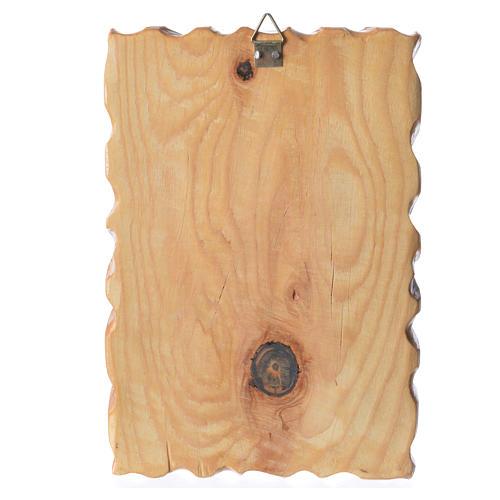 Quadretto legno stampa Madonna Medjugorje 18x12 2