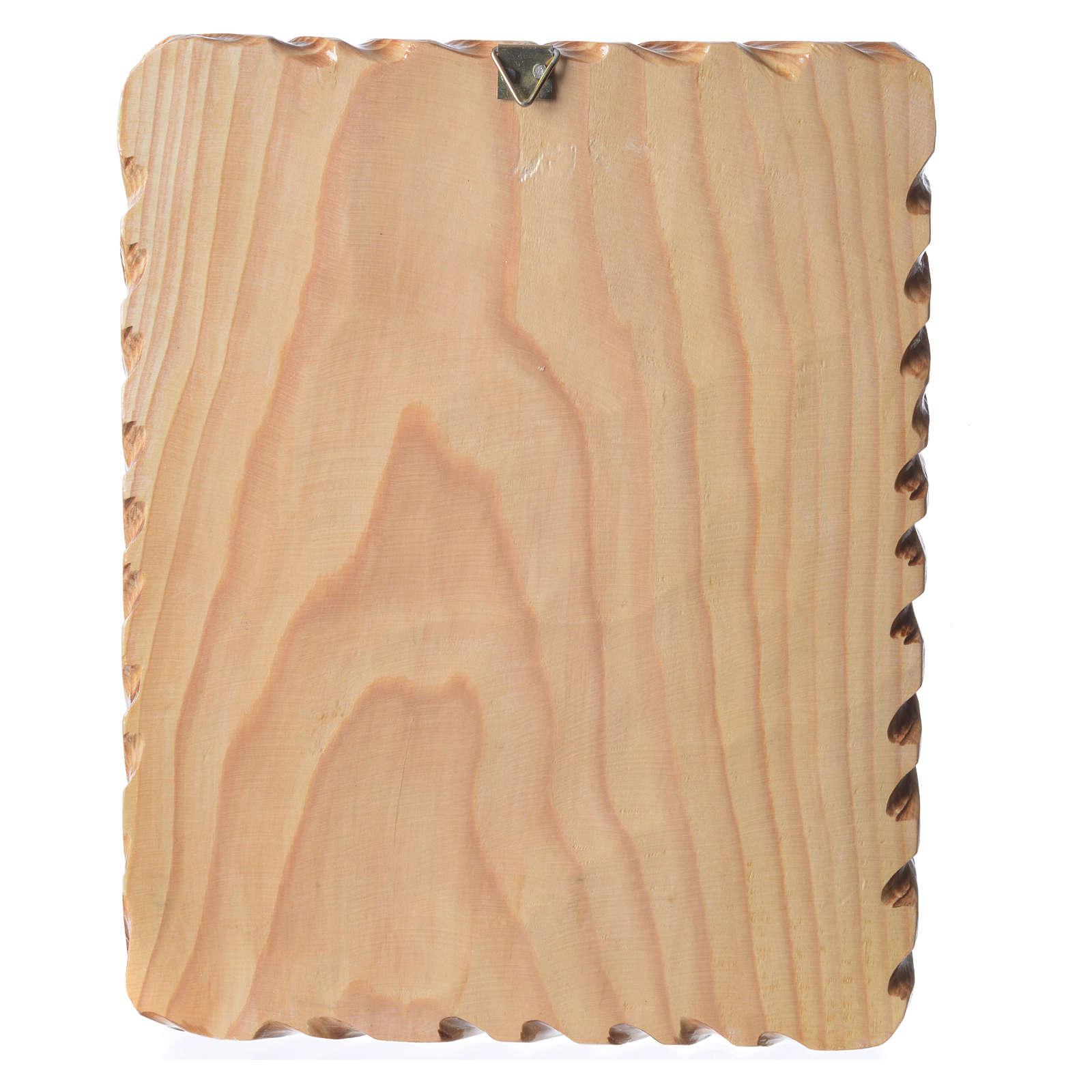 Quadretto legno 23x19 cm stampa Madonna Medjugorje 4