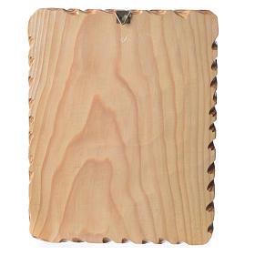 Quadretto legno 23x19 cm stampa Madonna Medjugorje s2