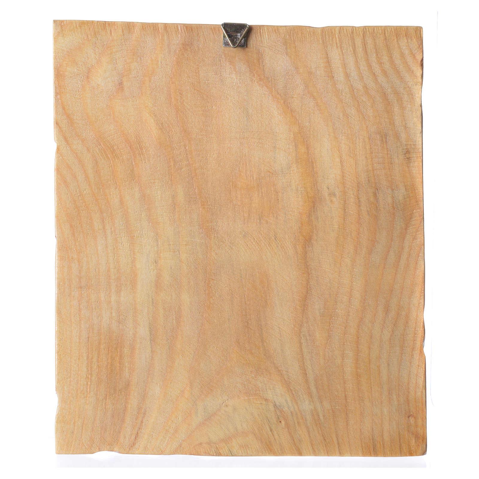Quadretto legno con stampa Gesù in preghiera 25x20 cm 4