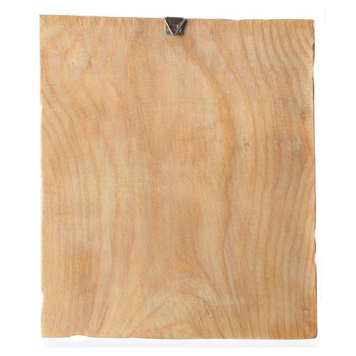 Quadretto legno con stampa Gesù in preghiera 25x20 cm 2