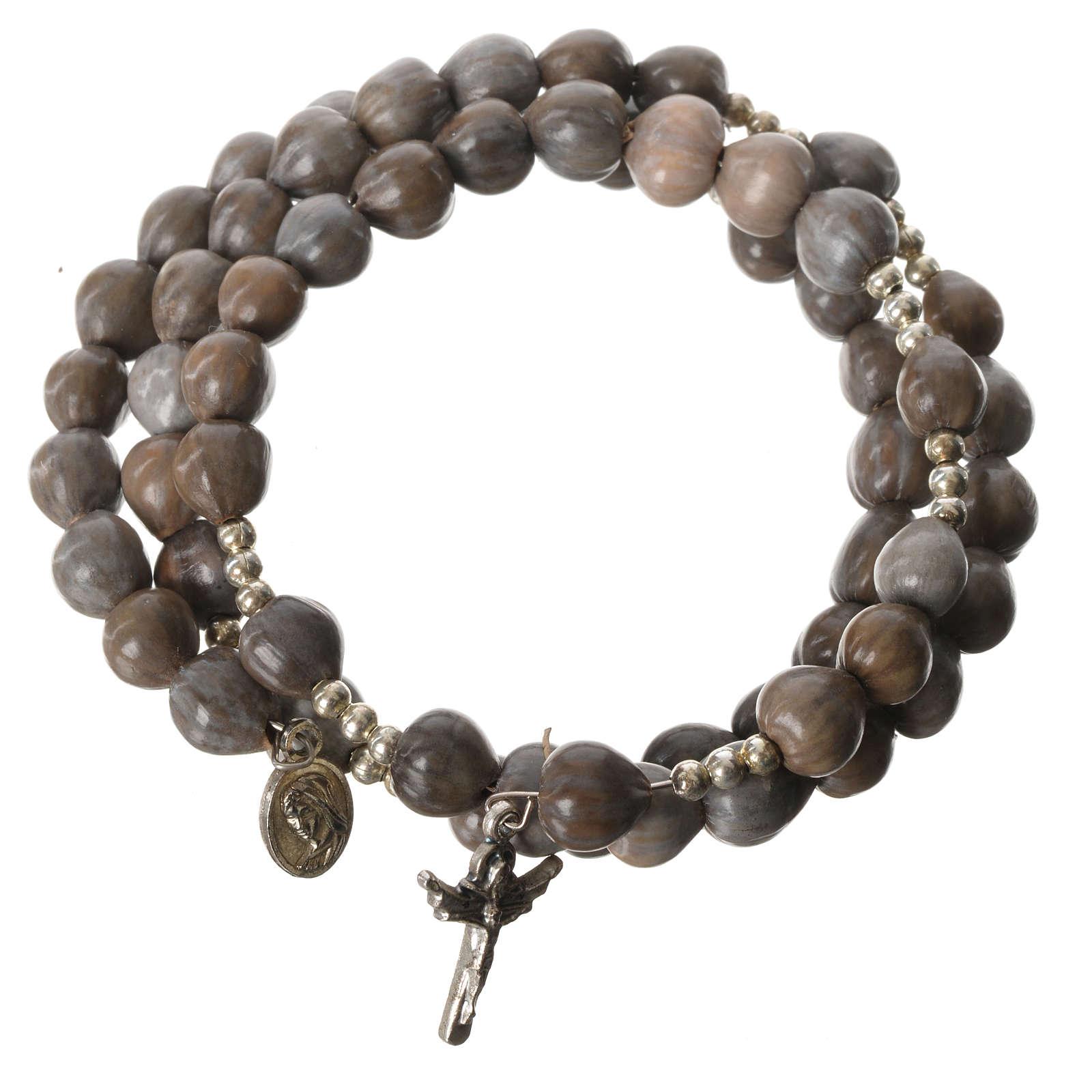 Elastic Medjugorje bracelet with Job's-tears 4