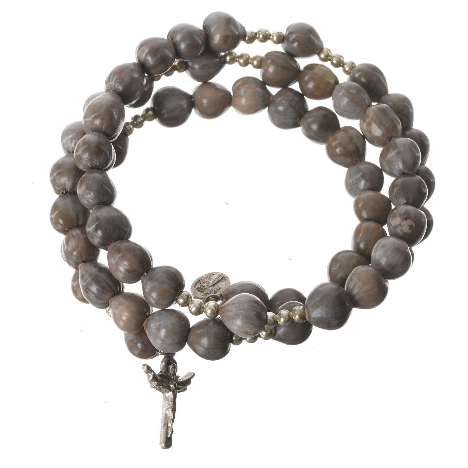 Bracelet Medjugorje spirale Croix Lacryma-jobi 4