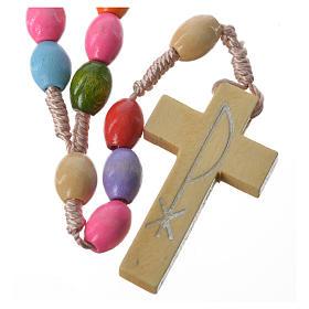 Chapelets et boîte chapelets: Chapelet bois Medjugorje grains multicolores