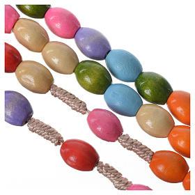 Chapelet bois Medjugorje grains multicolores s3