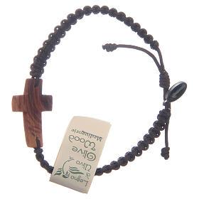 Bracelet corde croix olivier Medjugorje s2