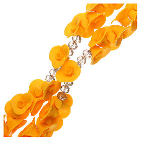 Medjugorje rosary with yellow roses, Murano glass s3