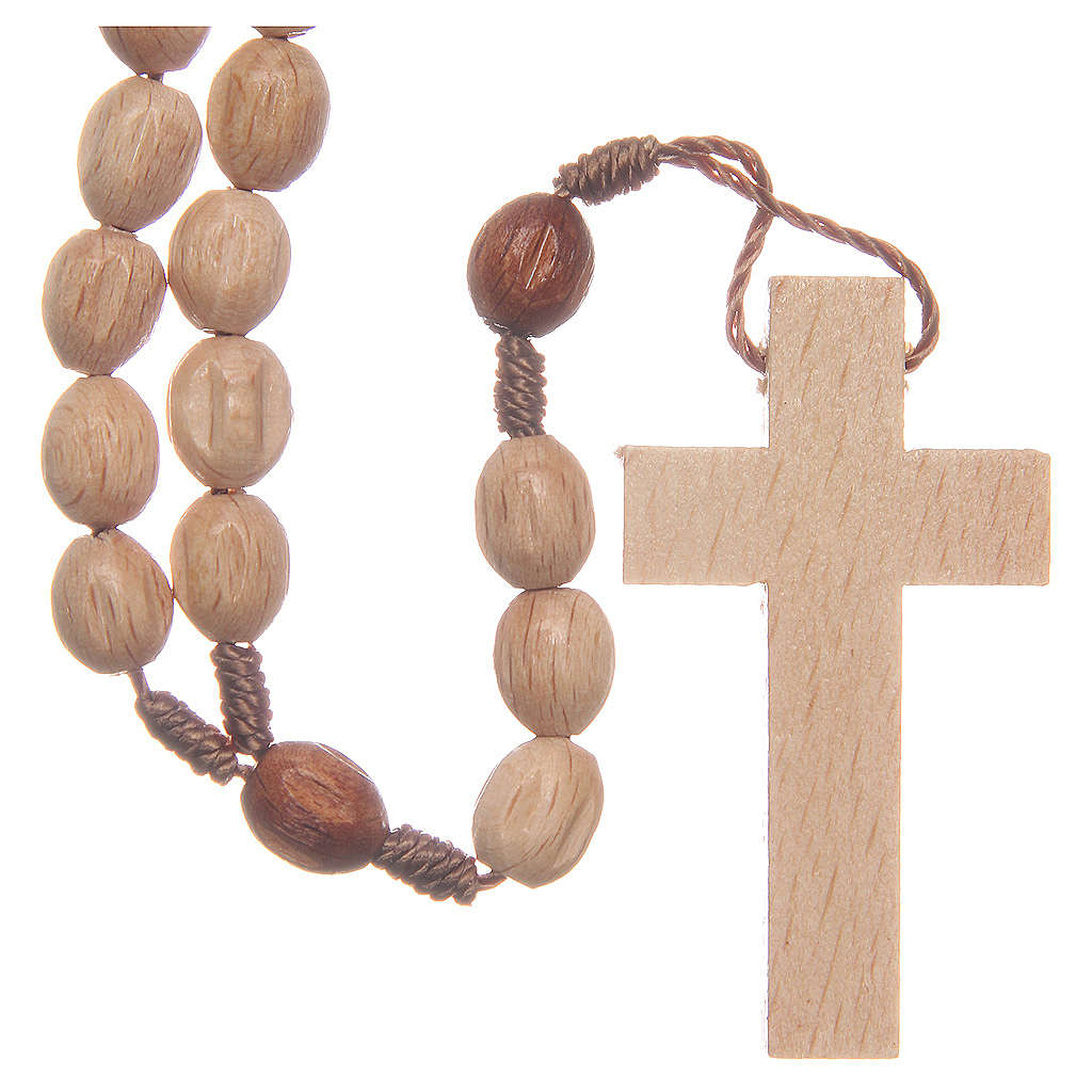 Rosary in Medjugorje wood with natural grains 4