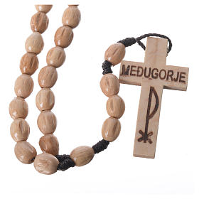 Rosary in Medjugorje wood with natural grains s4