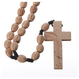 Rosary in Medjugorje wood with natural grains s5