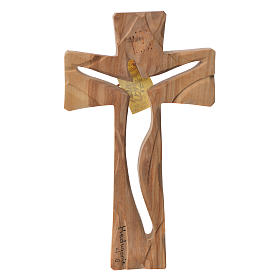 Medjugorje Cross in olive wood measuring 19x11cm s1