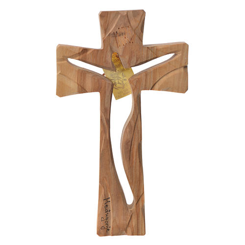 Medjugorje Cross in olive wood measuring 19x11cm 1