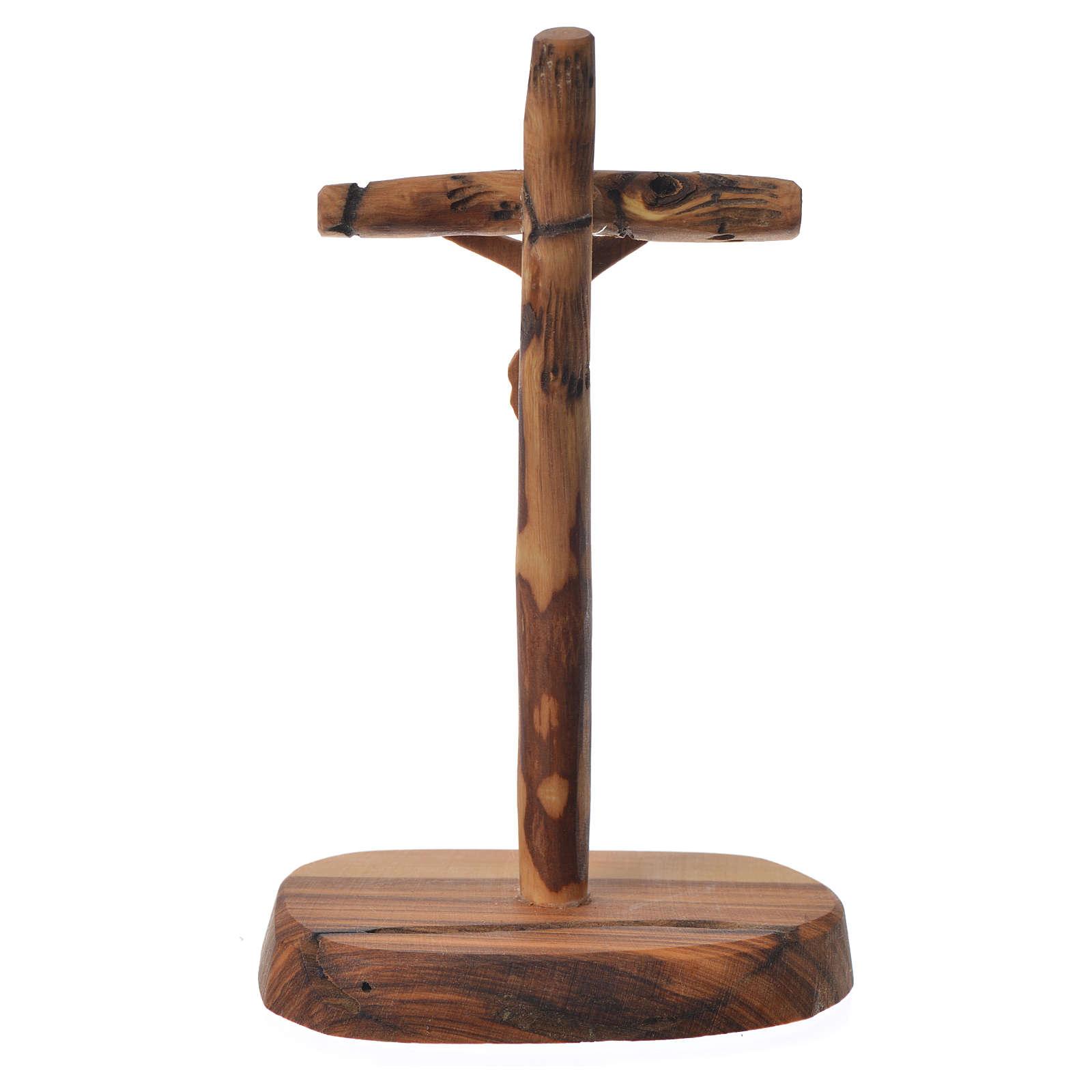 Croce Ulivo Medjugorje con base 15x7 cm 4