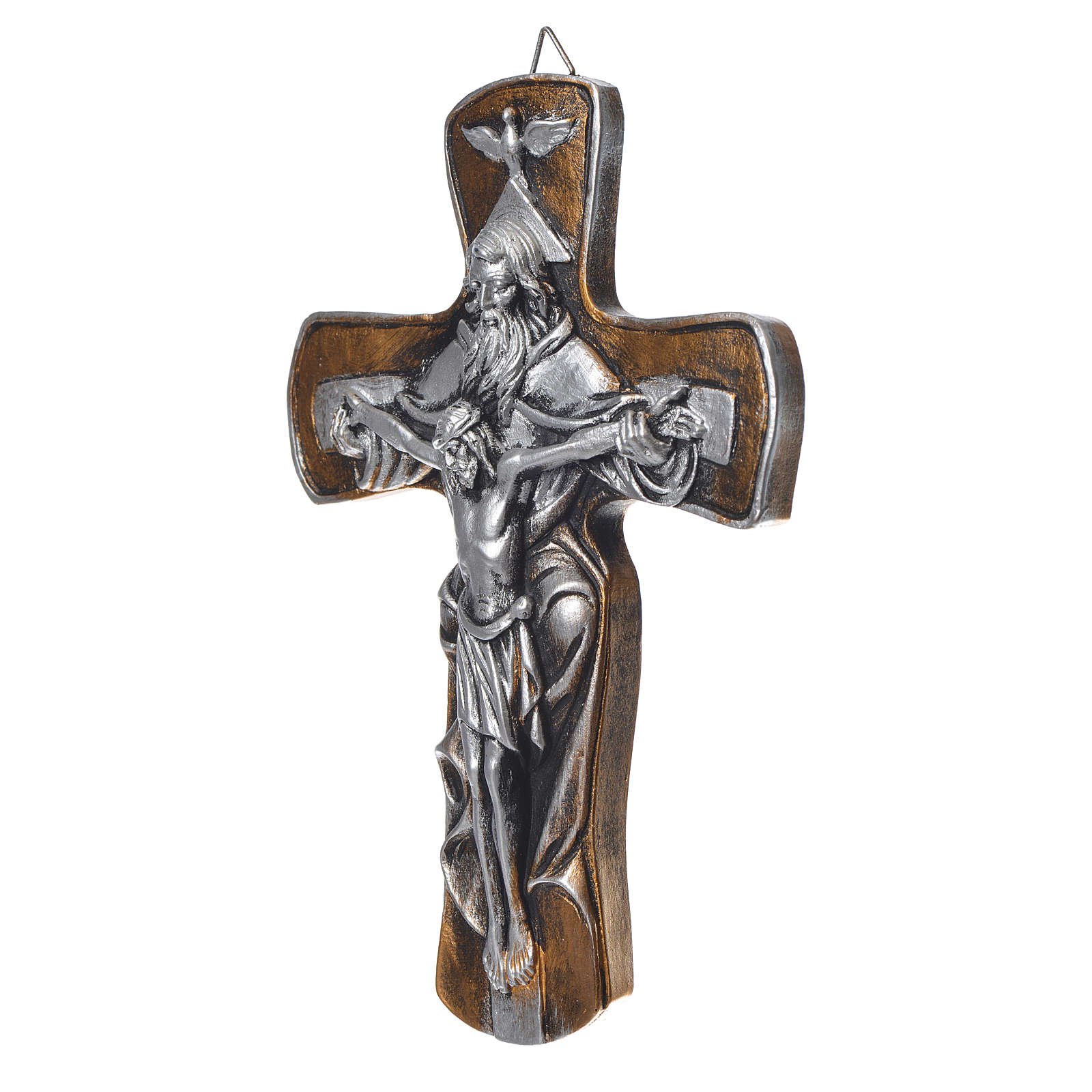 Medjugorje Cross in resin with gold finish 4