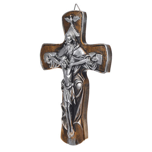 Medjugorje Cross in resin with gold finish 2