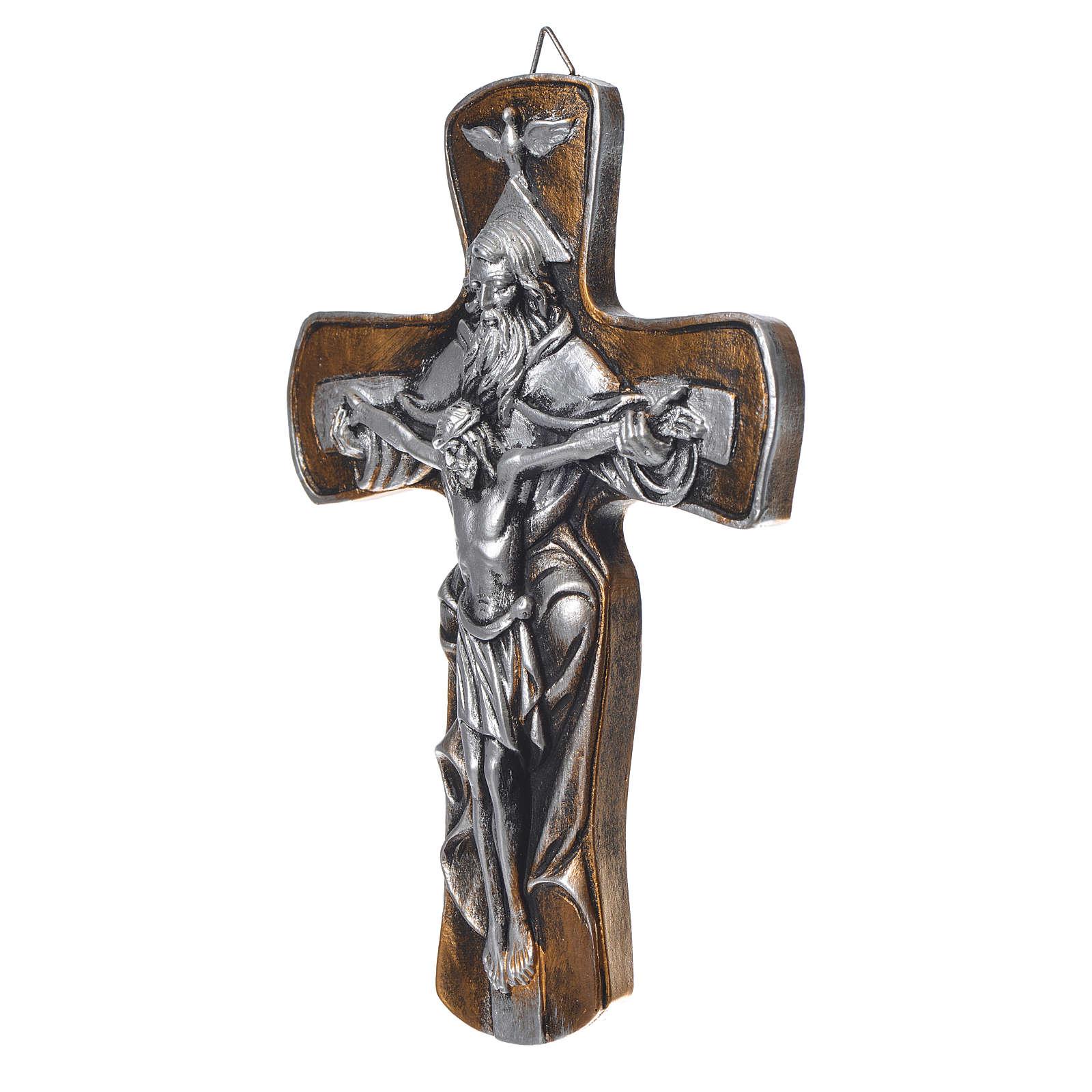 Croce in resina Medjugorje finitura oro 4