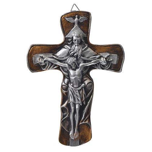 Croce in resina Medjugorje finitura oro 1