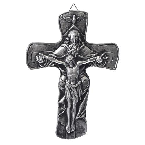 Croce in resina Medjugorje argentata 1